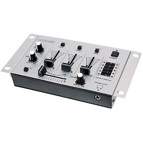 KONIG 3 CHANNEL MIXER COMPACT WITH TALKOVER CROSSFADE 2 MIC INPUTS
