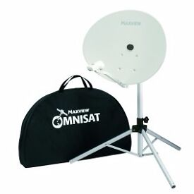 ** MAXVIEW OMNISAT 66 KIT WITH ELLIPTICAL DISH & FREE-TO-AIR RECEIVER - PORTABLE 4 MOTORHOME/CARAVAN