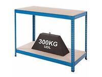 2 tier shelving new unused 300kg max ideal for garage shed work shop