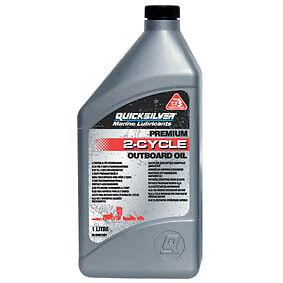 Quicksilver Premium 2 Stroke Outboard Engine Oil. TC-W3. 1 Litre Bottle.