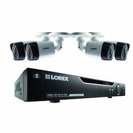 Lorex 4 camera HD CCTV + DVR Recorder 1080p