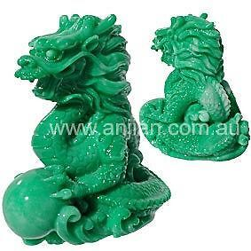 Feng Shui Chinese Dragon Statue Green Dragon of the East 9cm high Marble Resin