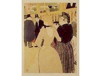 Lautrec Lithograph. La Goulue and her Sister.