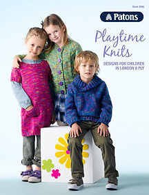 Patons Pattern Book 8006 Playtine Knits for Children to Knit in London 8 Ply