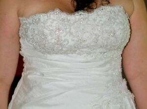 Morilee size 16 strapless wedding dress London Ontario image 2