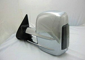 Chrome Towing Mirror Pair Silverado/Sierra/Tahoe/Suburban/Yukon
