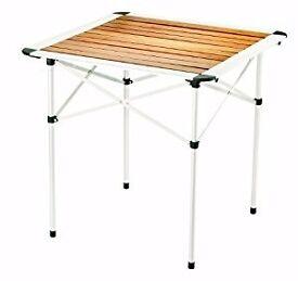 Gelert Bamboo and Aluminium Stylish Camping Table