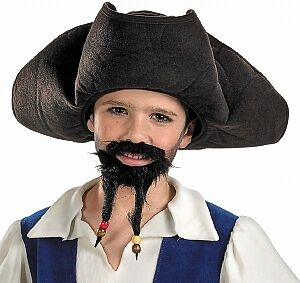 Jack Sparrow Mustache (Pirates of the Caribbean Jack Sparrow Child Pirate Hat with Mustache and)