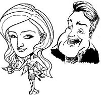 Calgary's best caricature artists; face painters; balloonists