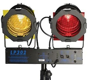 Set of Three Yorkville LP-302 Stage Lights With Controller