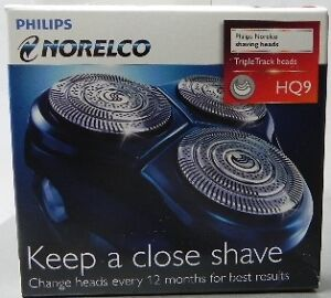 PHILIPS-Norelco-Replacement-Triple-Track-Heads-HQ9-Cutters-Combs-Brand-New