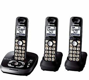 Panasonic Cordless Phones - 3 handsets with answering machine