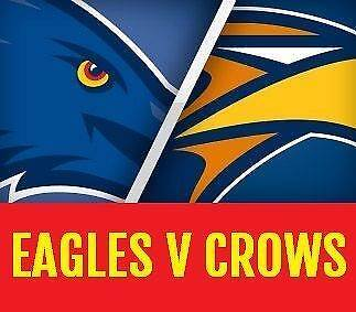4 X ADELAIDE CROWS V WEST COAST EAGLES TICKETS AFL Highgate Unley Area Preview