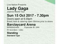 2 x Lady GAGA Tickets (Birmingham)
