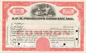 A-P-W-PRODUCTS-Allied-paper-red-stock-certificate-share