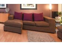 (SOLD) Sofa, Cushions and Footstool (By RAFT Furniture)