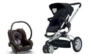 Quinny 2012 Buzz 3 Stroller Rocking Black + Maxi Cosi Car Seat Travel System!!