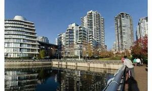 Vancouver Waterfront Modern and Quiet 1 Bdrm + Den