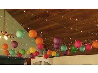Chinese lanterns job lot - wedding decorations