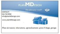 Plans pour  agrandissement maison, garage ou terasse