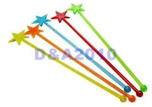 50pcs-Plastic-Star-Cocktail-Drink-Stirrers-Swizzle-Sticks-Bar-multi-color-stir