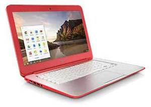 Coral pink Chromebook