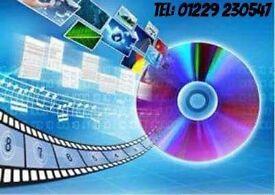 FILM & AUDIO CONVERSIONS Incl: VHS, CAMCORDER, 8mm. Tel: 01229 230547