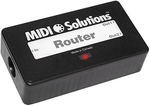 MIDI SOLUTIONS ROUTER 1 IN 2 OUT