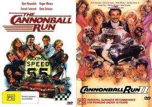 THE CANNONBALL RUN 1 & 2 - BURT REYNOLDS -  NEW DVD'S