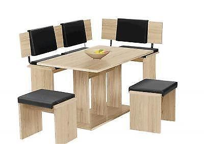 eckbankgruppe eiche tisch stuhl sets ebay. Black Bedroom Furniture Sets. Home Design Ideas