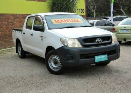 2008 Toyota Hilux TGN16R MY09 Workmate White 5 Speed Manual 4D UTILITY