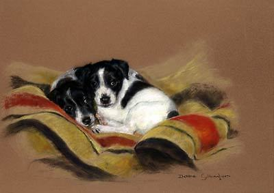 Jack Russell Limited Edition Art Print Humble Beginnings by Debbie Gillingham*