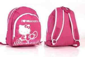 New children kids girls HELLO KITTY  backpack PINK