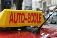COURS DE CONDUITE (70 MIN/$32) (2H/$54)=DRIVING LESSONS CLASSES