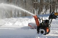Snow removal with snowblower