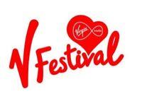 1 X V Festival Ticket (Weston Park, Weekend Ticket)