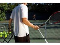 Tennis practicing partner