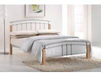 New - Bed and Mattress - Hypnia Memory Foam Mattress, King Size + Tetras Metal Bed Frame