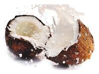 Exotic coconut oil massage