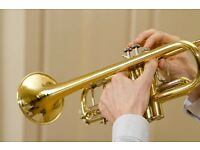 Brass musicians for photo shoot, North London, 25 May 2018