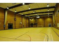 Sports Hall & Dance Studio hire availability