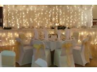 Cheap Quality Wedding Backdrop with Star Light for Hire