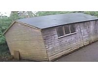10' x 18' tongue & groove wooden shed