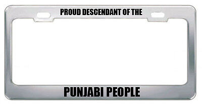 Proud Descendant Of The Punjabi People Nationality License Plate Frame Tag