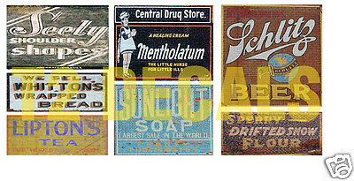 N Scale Ghost Sign Decals #16- Weather Your Buildings & Structures!