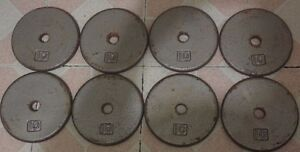 """1"""" Weight Plates With Barbell & DB Handles"""