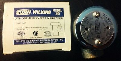 Zurn Wilkins Model 35 12 Atmospheric Vacuum Breaker