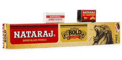 500x Nataraj Bold Dark Super Black Pencils For Home School Office Architect Use