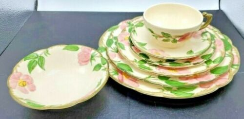 Franciscan Desert Rose * 7-PIECE PLACE SETTING * Made in California
