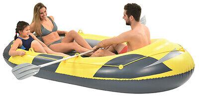 Schlauchboot Ruderboot gelb/grau inkl. 2 Paddel und Tasche / 3 Personen 260 kg
